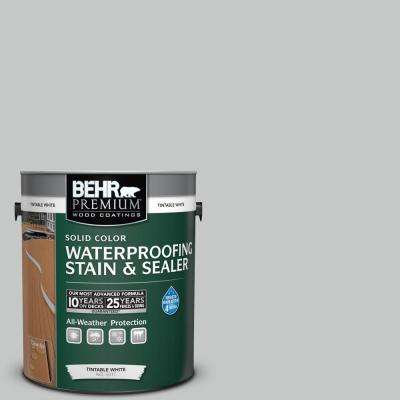 1 gal. #BNC-07 Frosted Silver Solid Waterproofing Stain and Sealer