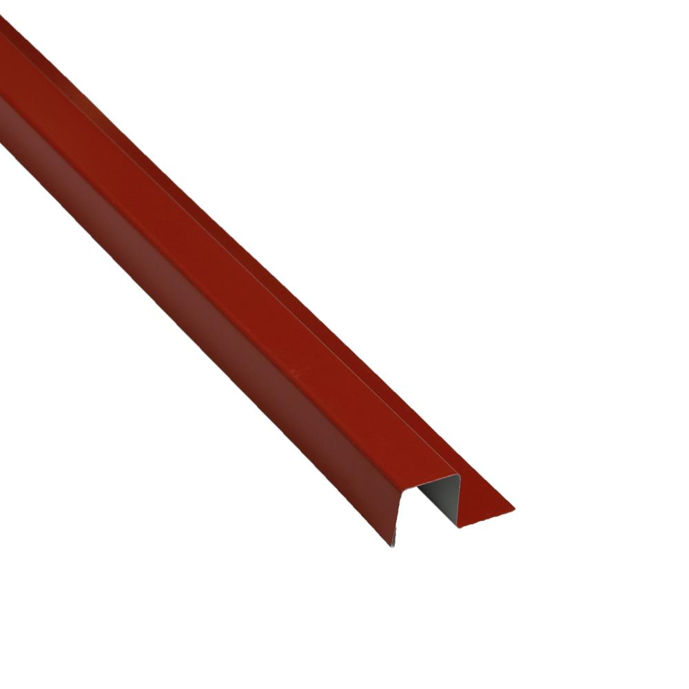1-1/4 in. x 10.5 ft. Red Metal Base Trim Drip Edge