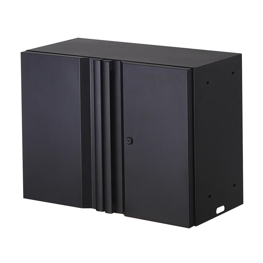 Welded 24 in. W x 18 in. H x 12 in. D 24-Gauge Wall Mounted Steel Garage Cabinet in Black