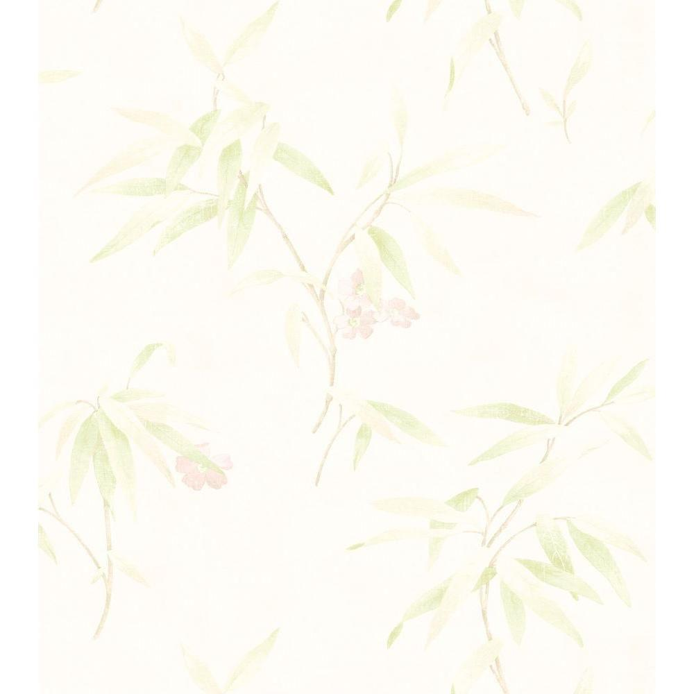 Bath Bath Bath III Off White Poppy Floral Wallpaper Sample