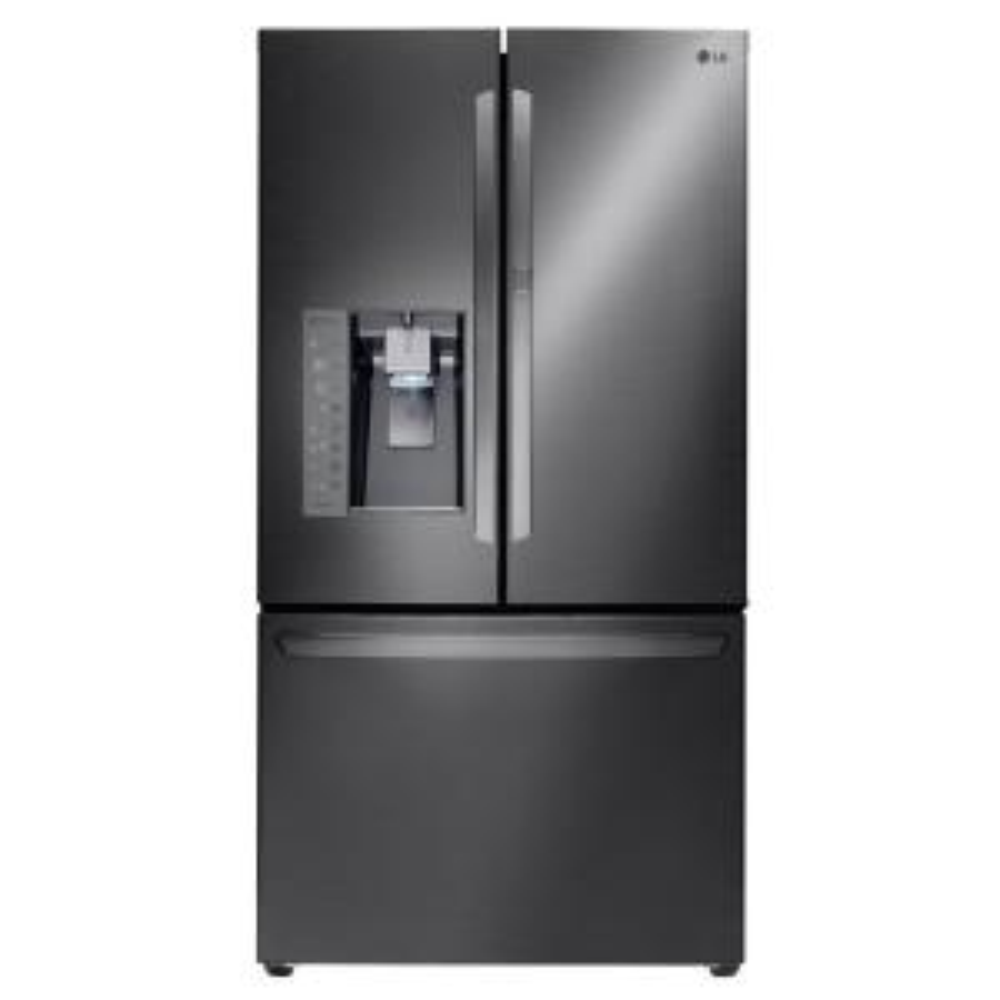 LG Electronics 30 cu. ft. French Door Refrigerator with Door-In-Door Design in Black Stainless Steel by LG Electronics