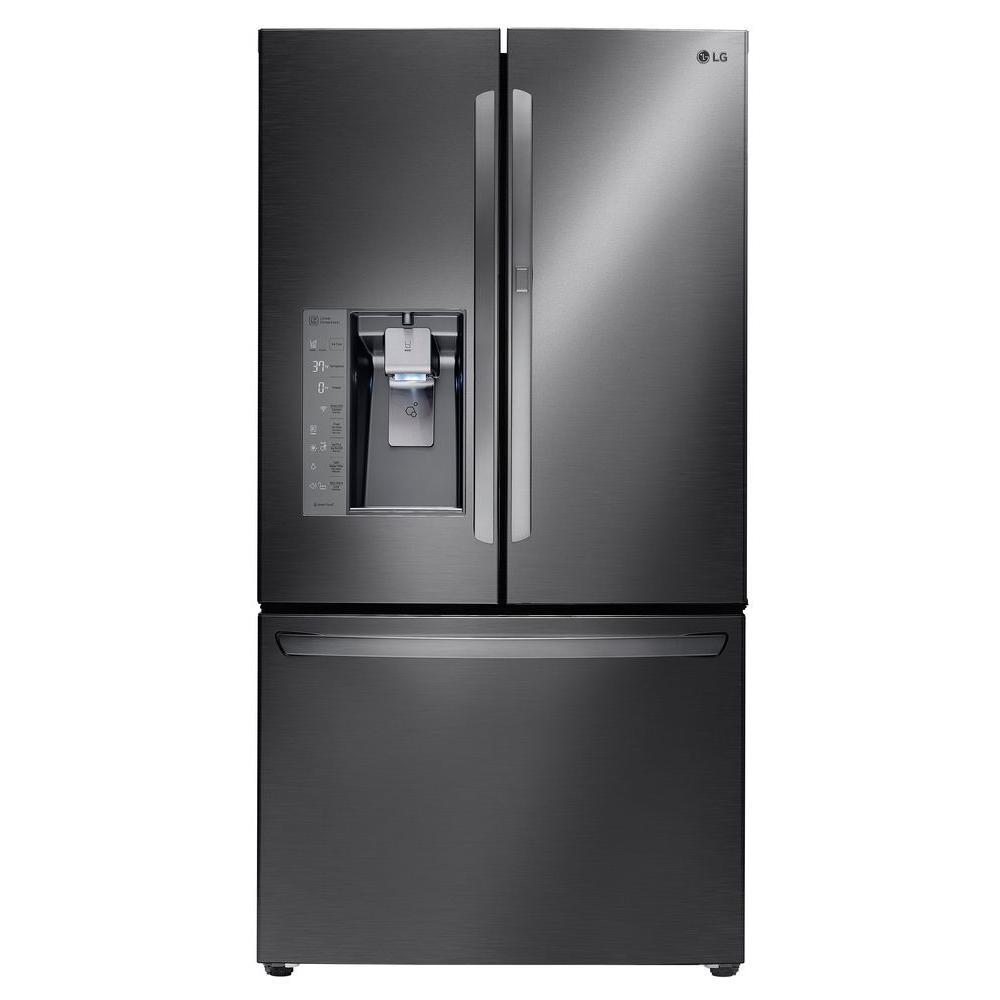 30 cu. ft. French Door Smart Refrigerator with Door-In-Door Design and Wi-Fi Enabled in Black Stainless Steel