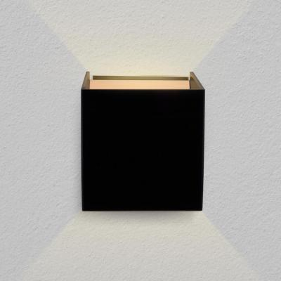Atlas 7-Watt Black Integrated LED Wall Sconce
