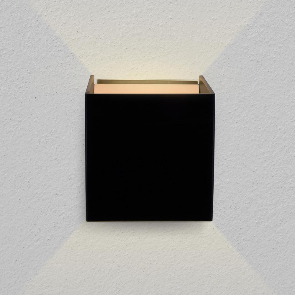 Atlas 7-Watt Black Integrated LED Wall Sconce