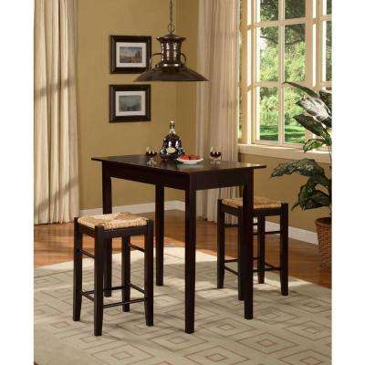 Tavern 3-Piece Brown Bar Table Set