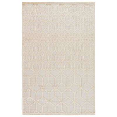 Fables Cream 9 ft. 6 in. x 13 ft. 6 in. Geometric Rectangle Area Rug