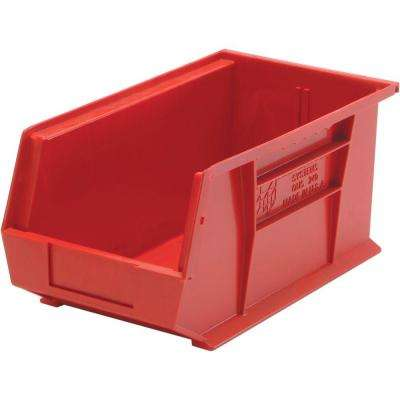 3.4-Gal. Stackable Plastic Storage Bin in Red (12-Pack)