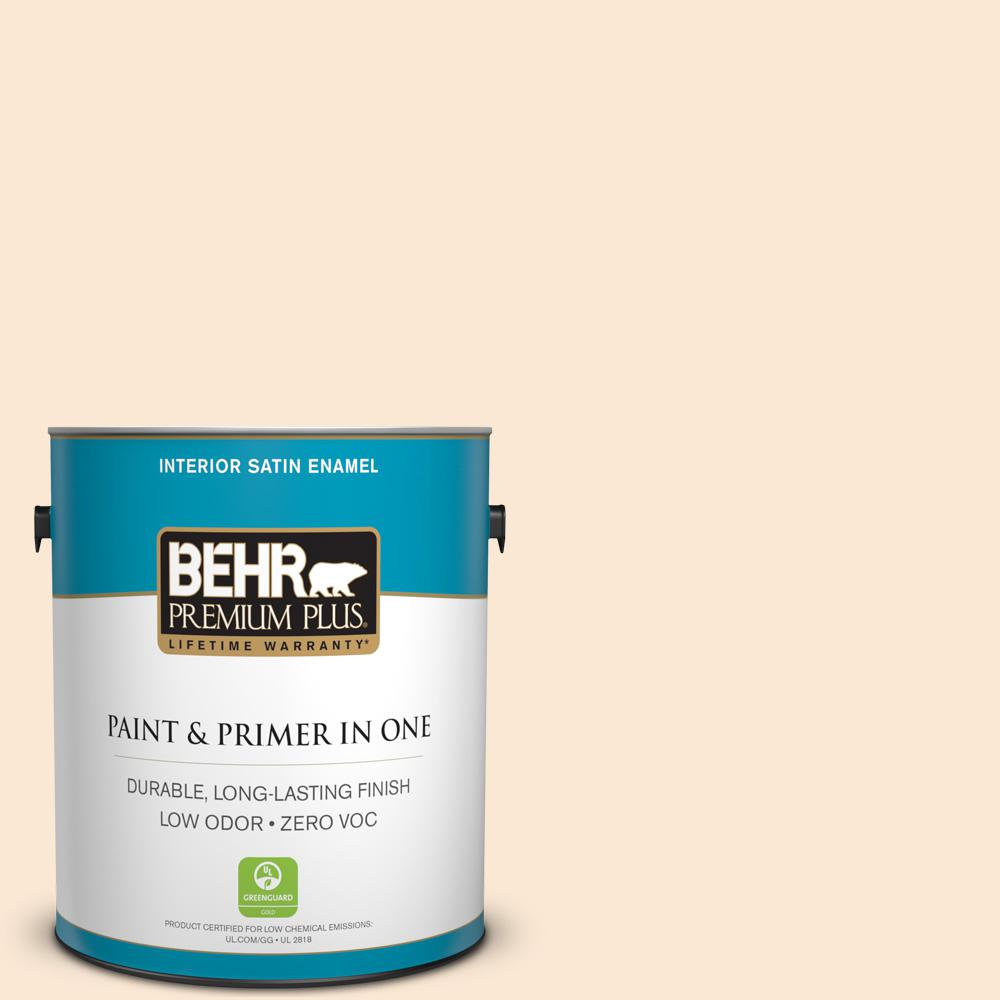 1-gal. #OR-W5 Almond Milk Satin Enamel Interior Paint