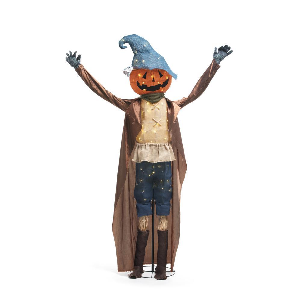 72 in. Caped Burlap Scarecrow