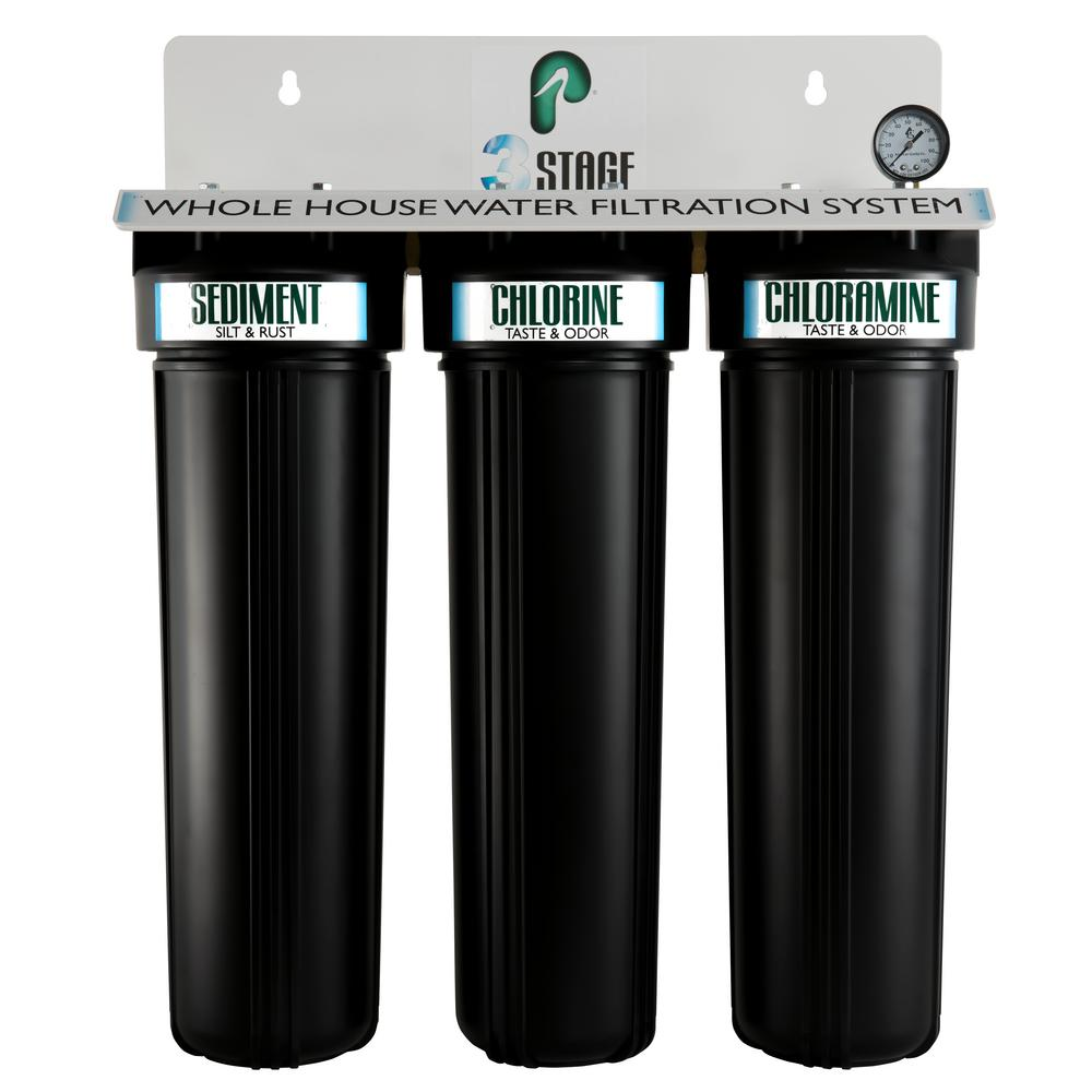 Pelican Water 3 Stage Whole House Water Filtration System-THD-PRL-3 ...