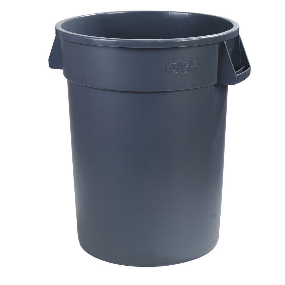 Carlisle Bronco 32 Gal Gray Round Trash Can 4 Pack