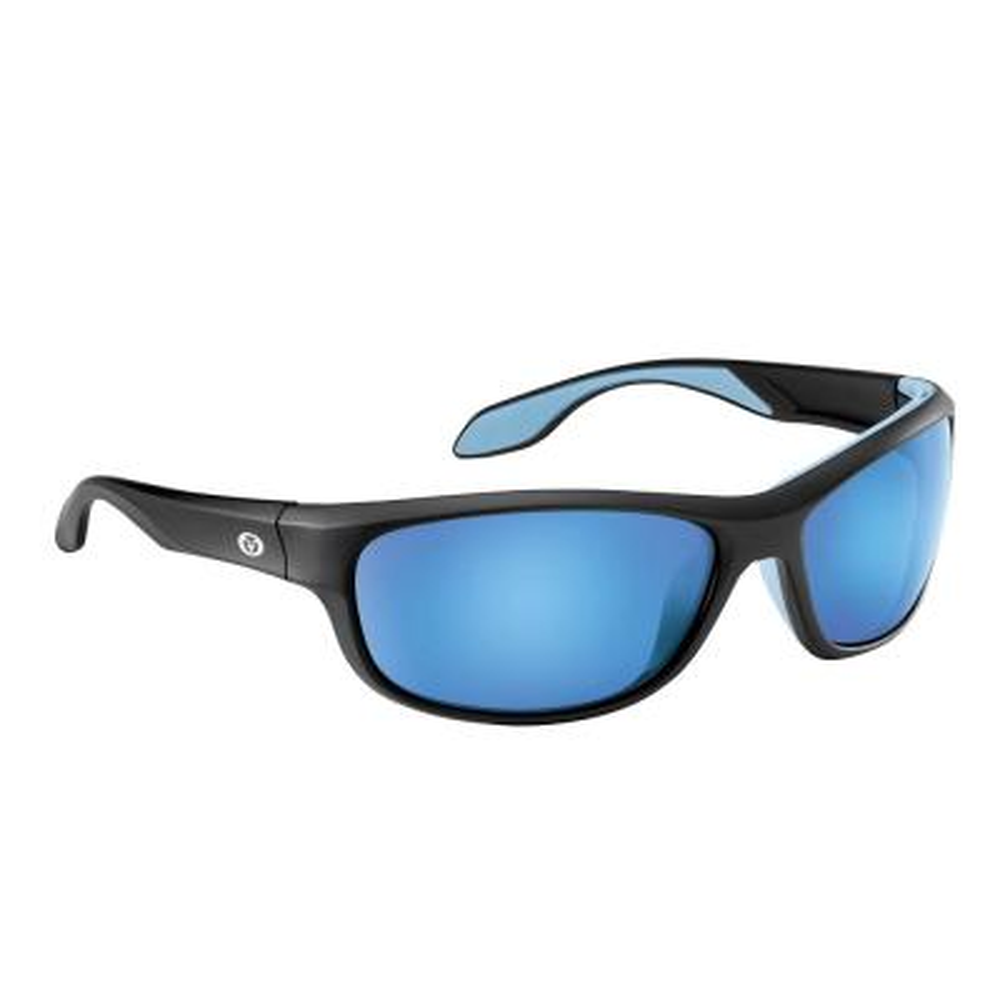 e5963926bc3 Cayo Polarized Sunglasses Matte Black Frame with Smoke Blue Mirror Lens