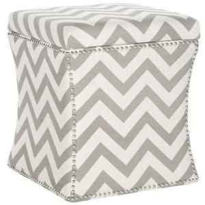 Amazing Safavieh Flora Grey Zigzag Storage Ottoman Mcr4670A The Ocoug Best Dining Table And Chair Ideas Images Ocougorg