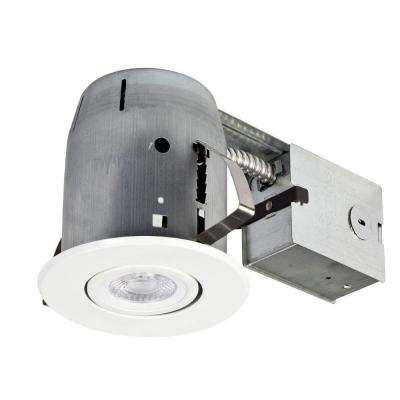 Led recessed lighting lighting the home depot white led ic rated swivel spotlight recessed lighting kit dimmable downlight aloadofball Choice Image