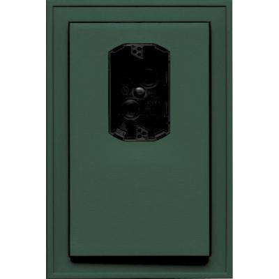 8.125 in. x 12 in. #028 Forest Green Jumbo Electrical Mounting Block Offset