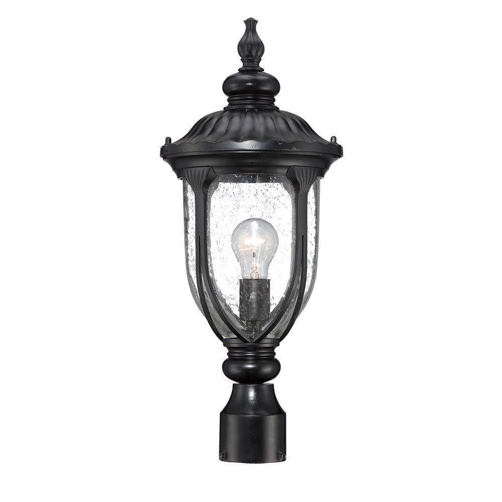 Acclaim Lighting Somerset 1 Light Matte Black Outdoor Post: Acclaim Lighting Laurens Collection 1-Light Matte Black