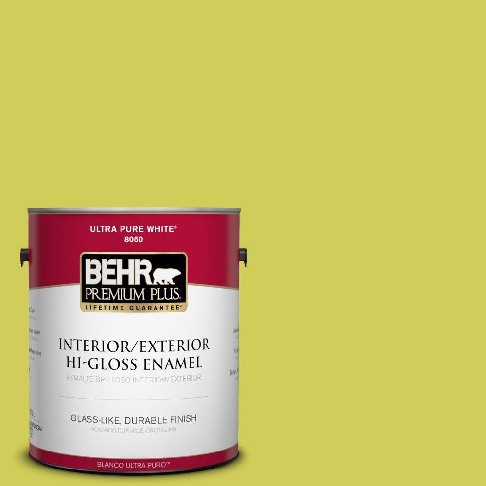1-gal. #400B-5 Grape Green Hi-Gloss Enamel Interior/Exterior Paint