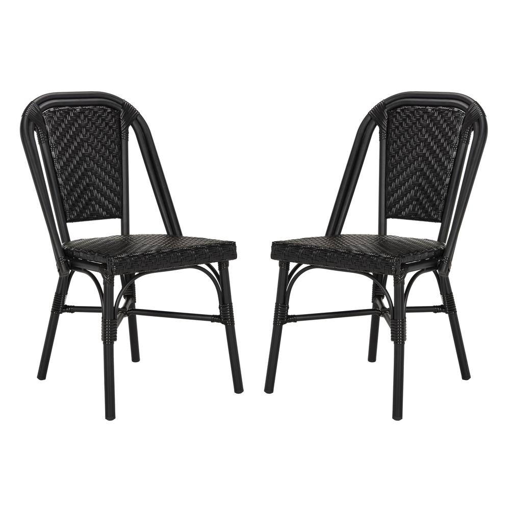 Safavieh Daria Stacking Wicker Outdoor Dining Chair In