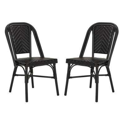 Strange Stackable Armless Black Outdoor Dining Chairs Patio Interior Design Ideas Tzicisoteloinfo