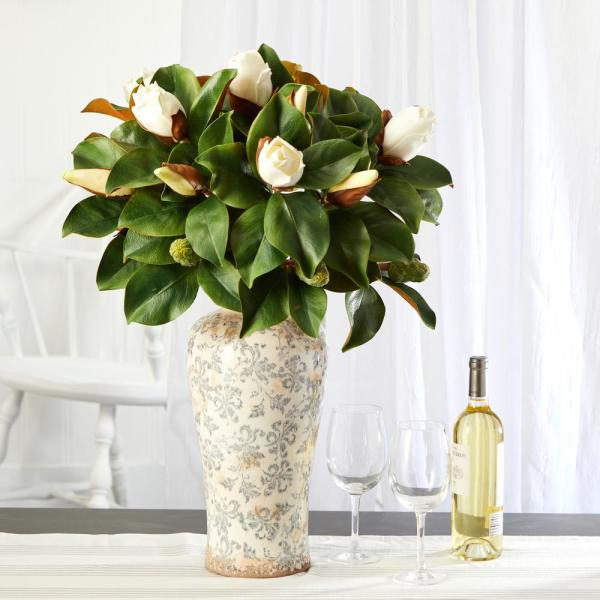 29 in. Magnolia Artificial Plant in Designer Planter
