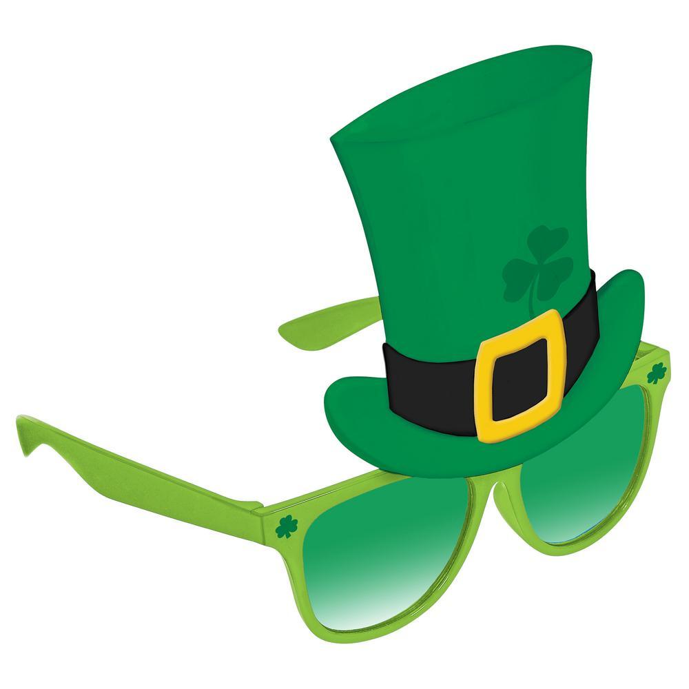 AMSCAN Plastic Leprechaun Hat St. Patrick's Day Sunglasse...