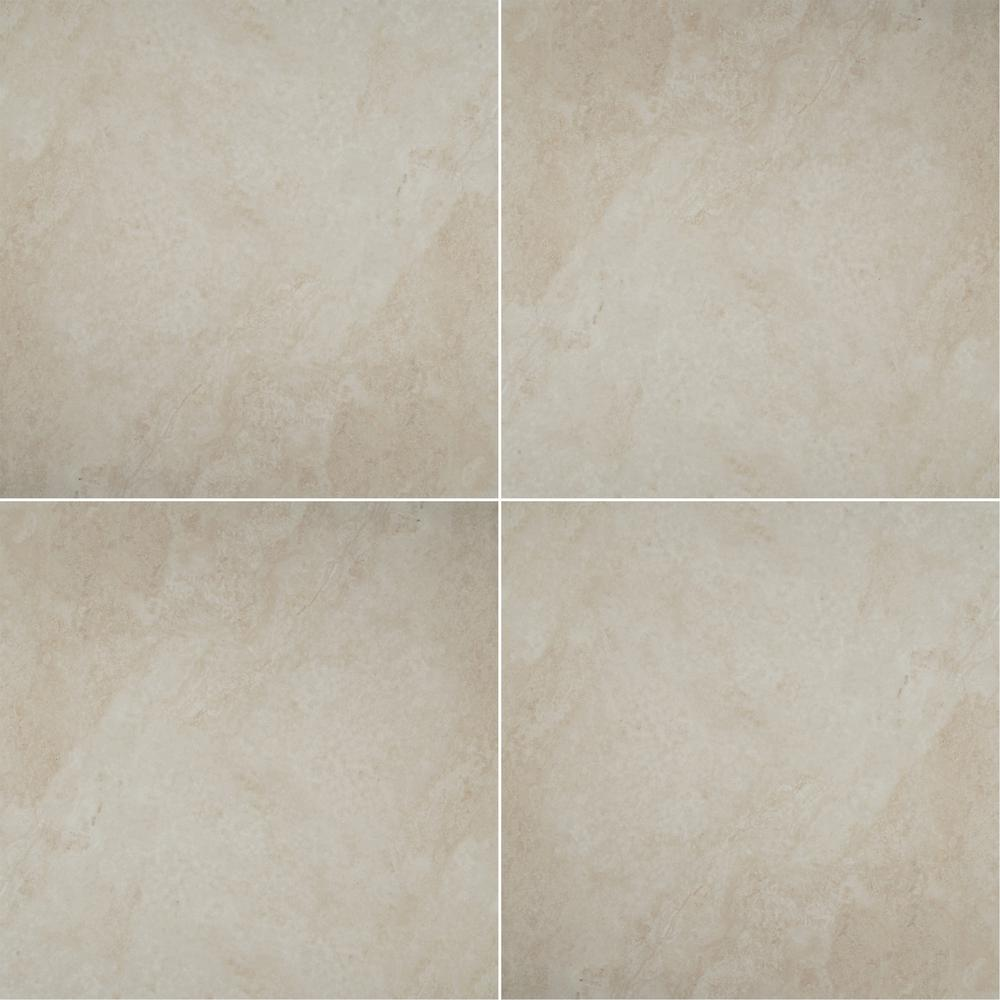 Antico Cream 36 in. x 36 in. Polished Porcelain Floor and