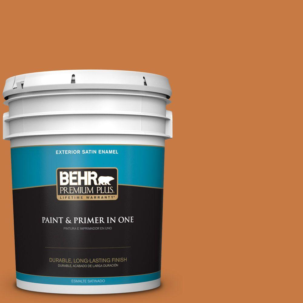 5-gal. #M230-7 Rumba Orange Satin Enamel Exterior Paint