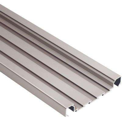 Quadec-FS Satin Nickel Anodized Aluminum 5/16 in. x 8 ft. 2-1/2 in. Metal Square Edge Tile Edging Trim
