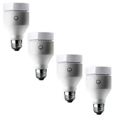 75W Equivalent A19 Multi-Color Dimmable Wi-Fi  Connected LED Smart Light Bulb (4-Pack)