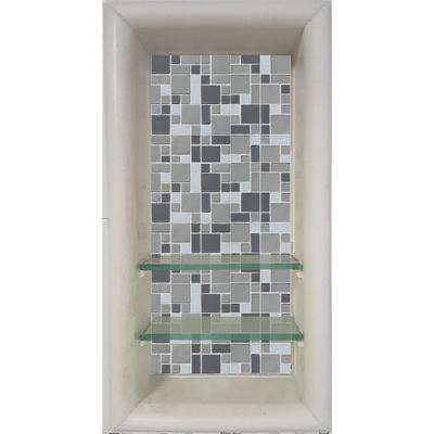 Newport 12 in. x 4 in. x 24 in. Shower Niche in Natural Buff