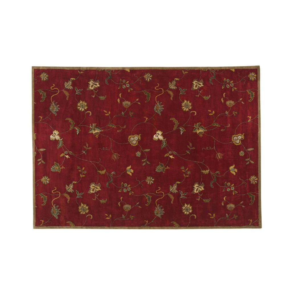 home decorators collection lenore red 10 ft x 14 ft area