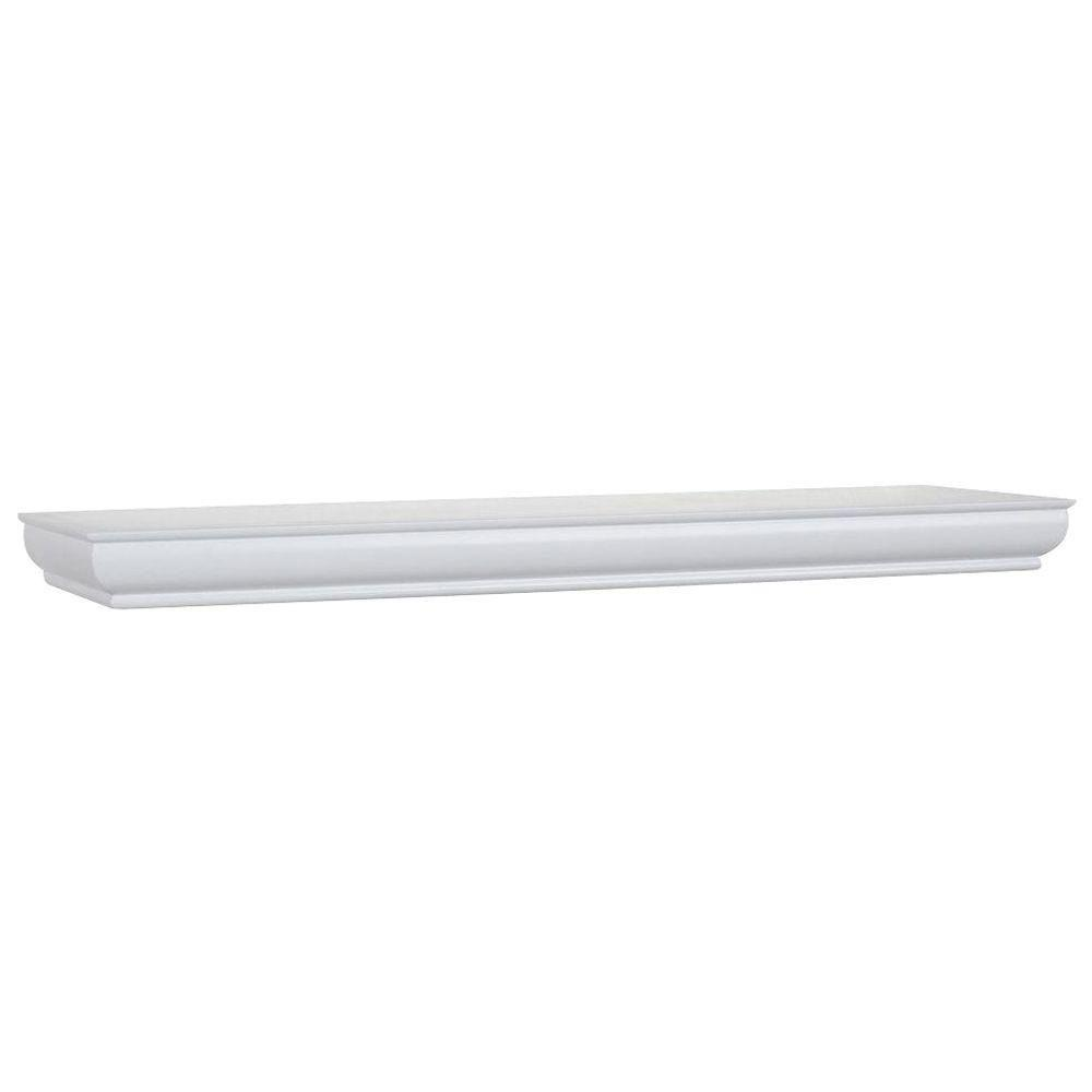 23 in. L x 4 in. W Profile White Ledge