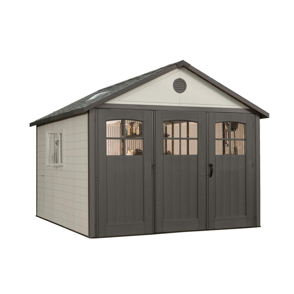 Lifetime 11 ft. x 11 ft. W Carriage Door Storage Shed