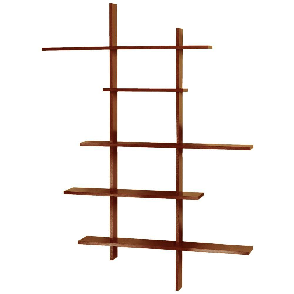 home decorators collection brexley black 5 shelf bookcase home decorators collection 66 in x 50 in deluxe 13699