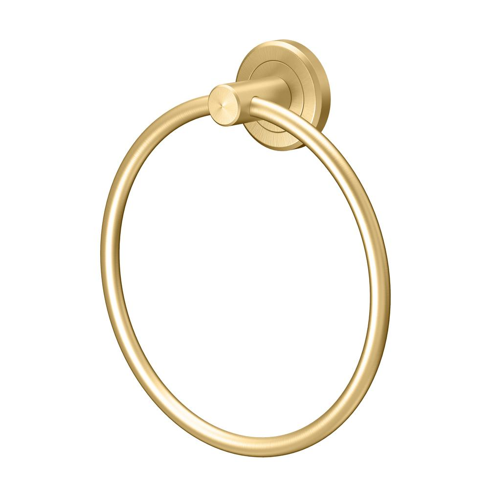 Gatco Latitude II Towel Ring in Brushed Brass