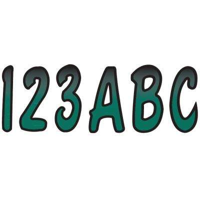 Series 200 Registration Kit, Cursive Font With Top to Bottom Color Gradations, Forest Green/Black
