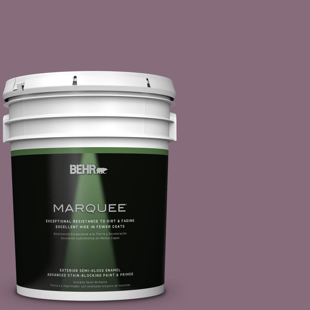 BEHR MARQUEE 5-gal. #S110-6 Plum Royale Semi-Gloss Enamel Exterior Paint