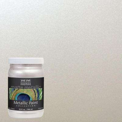 1 qt. Oyster Water-Based Matte Metallic Interior Paint
