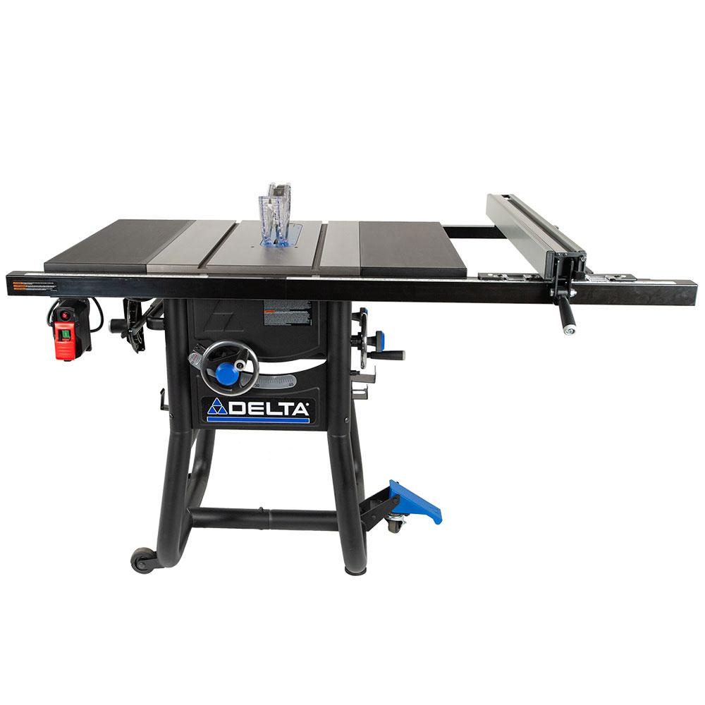 Delta 15 Amp 10 in. Table Saw with 30 in. Rip Capacity and Steel Extension Tables