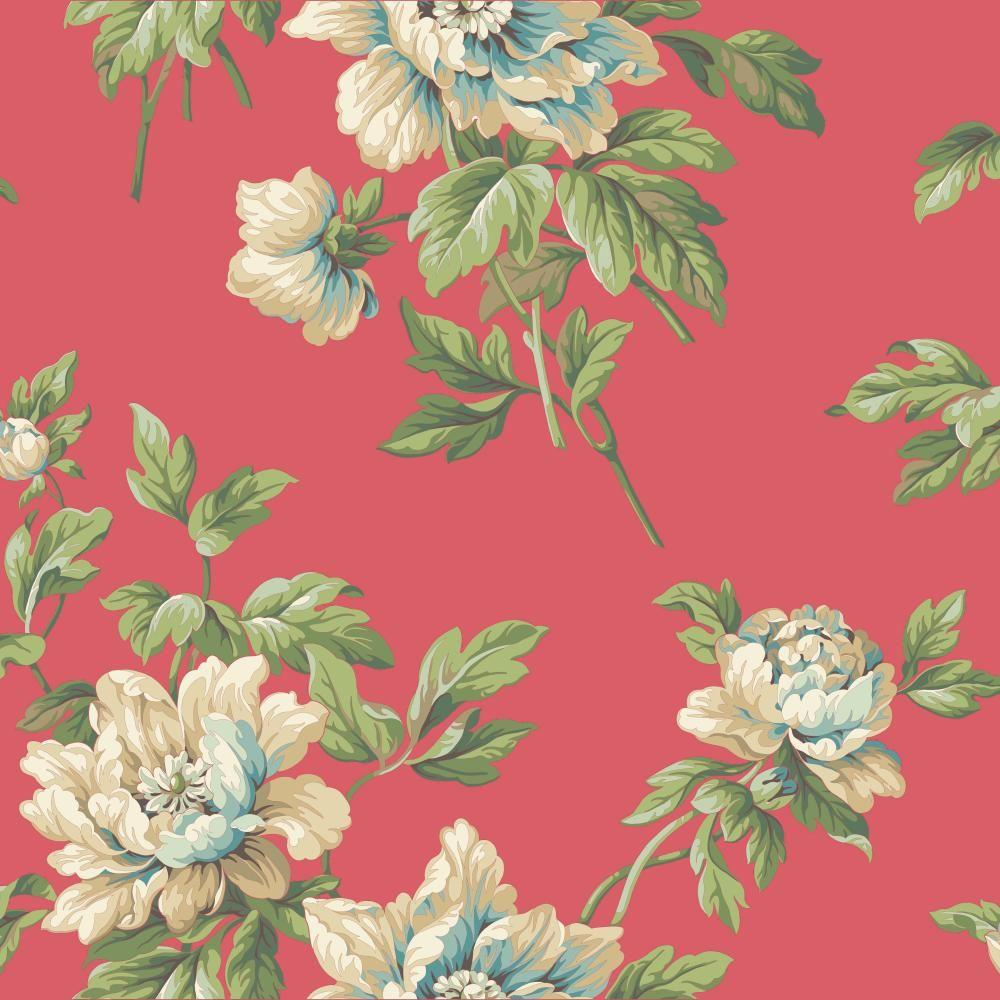 York Wallcoverings Casabella II Document Floral Wallpaper