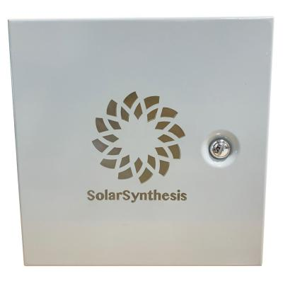 Outdoor Solar Power Supply with 6 Antique Bronze Spotlights, a 50W Solar Panel and Solar Rechargeable Battery