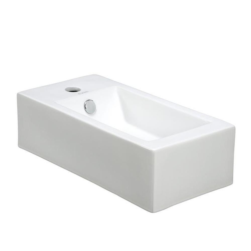 elanti wall mounted right facing rectangle bathroom sink 19108