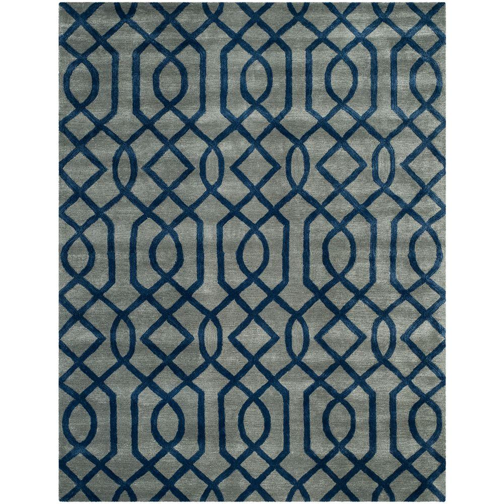 Soho Grey/Dark Blue 8 ft. 3 in. x 11 ft. Area