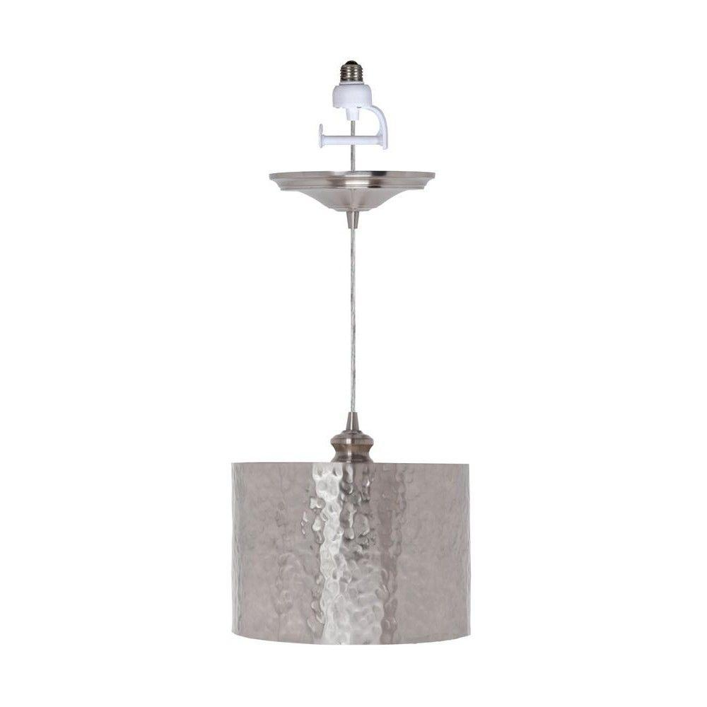 Home Decorators Collection Hammered 1-Light Brushed Nickel