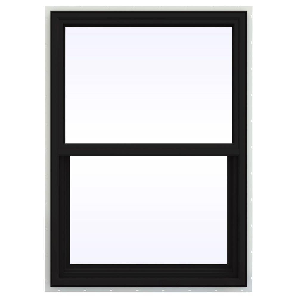 JELD-WEN 29.5 in. x 47.5 in. V-4500 Series Single Hung Vinyl Window - Black
