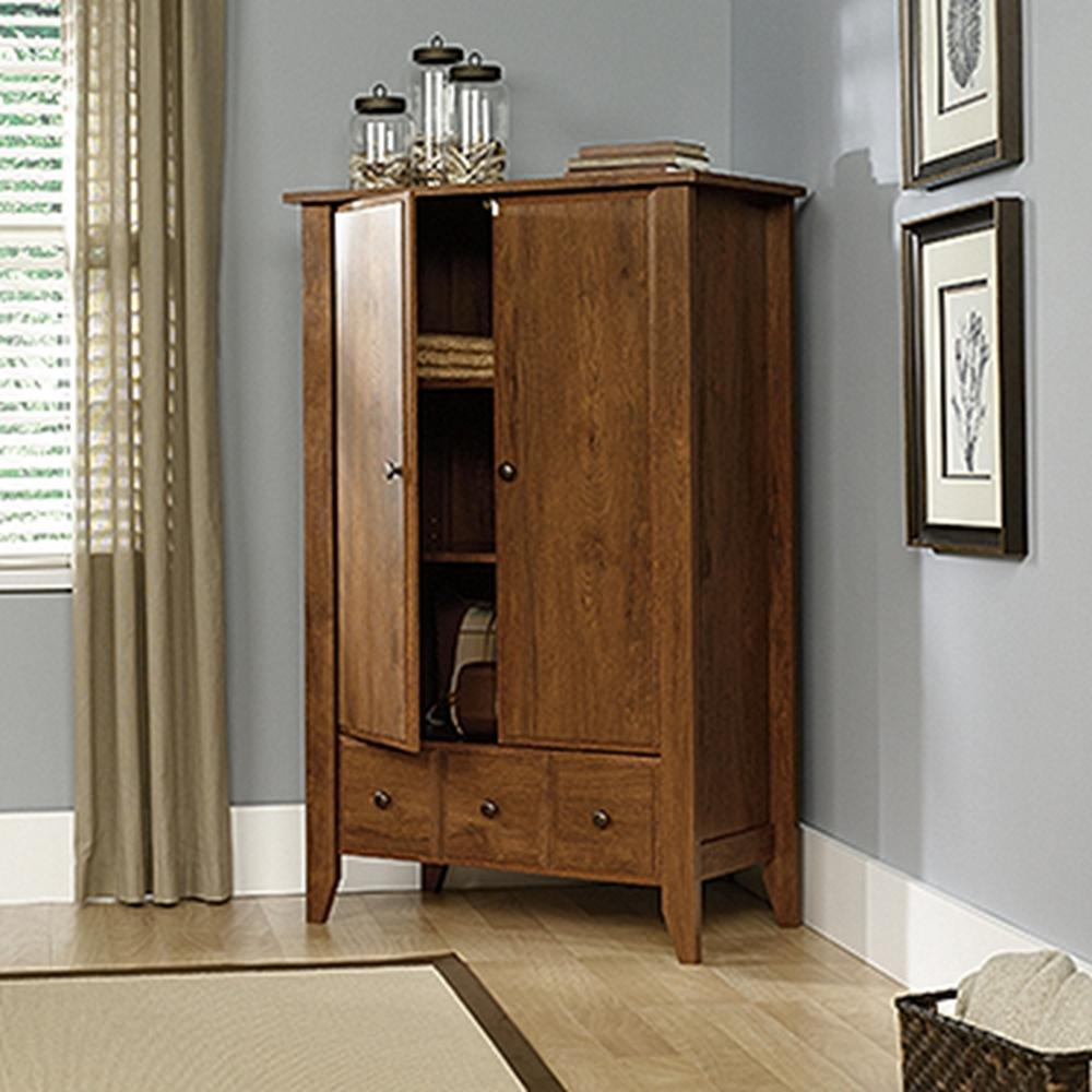SAUDER Shoal Oiled Oak Armoire