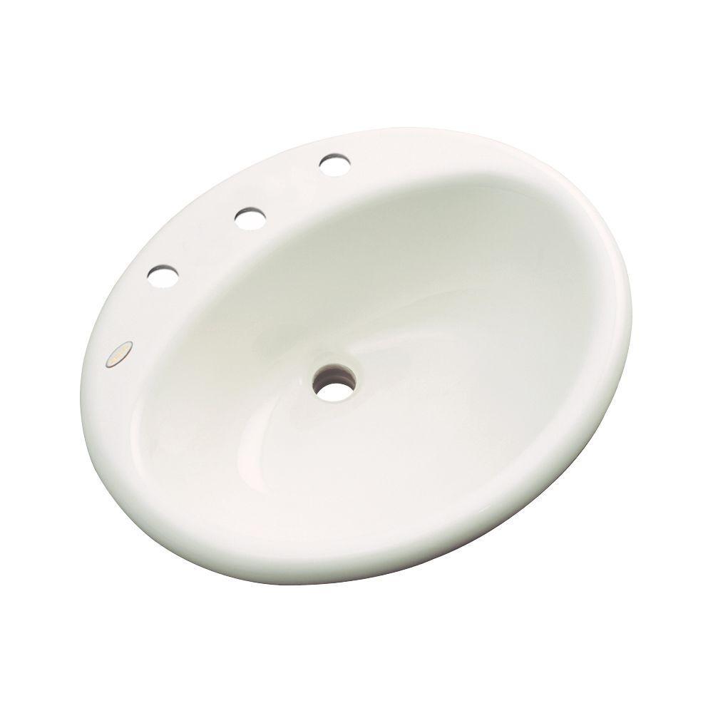 Bayfield Drop-In Bathroom Sink in Biscuit