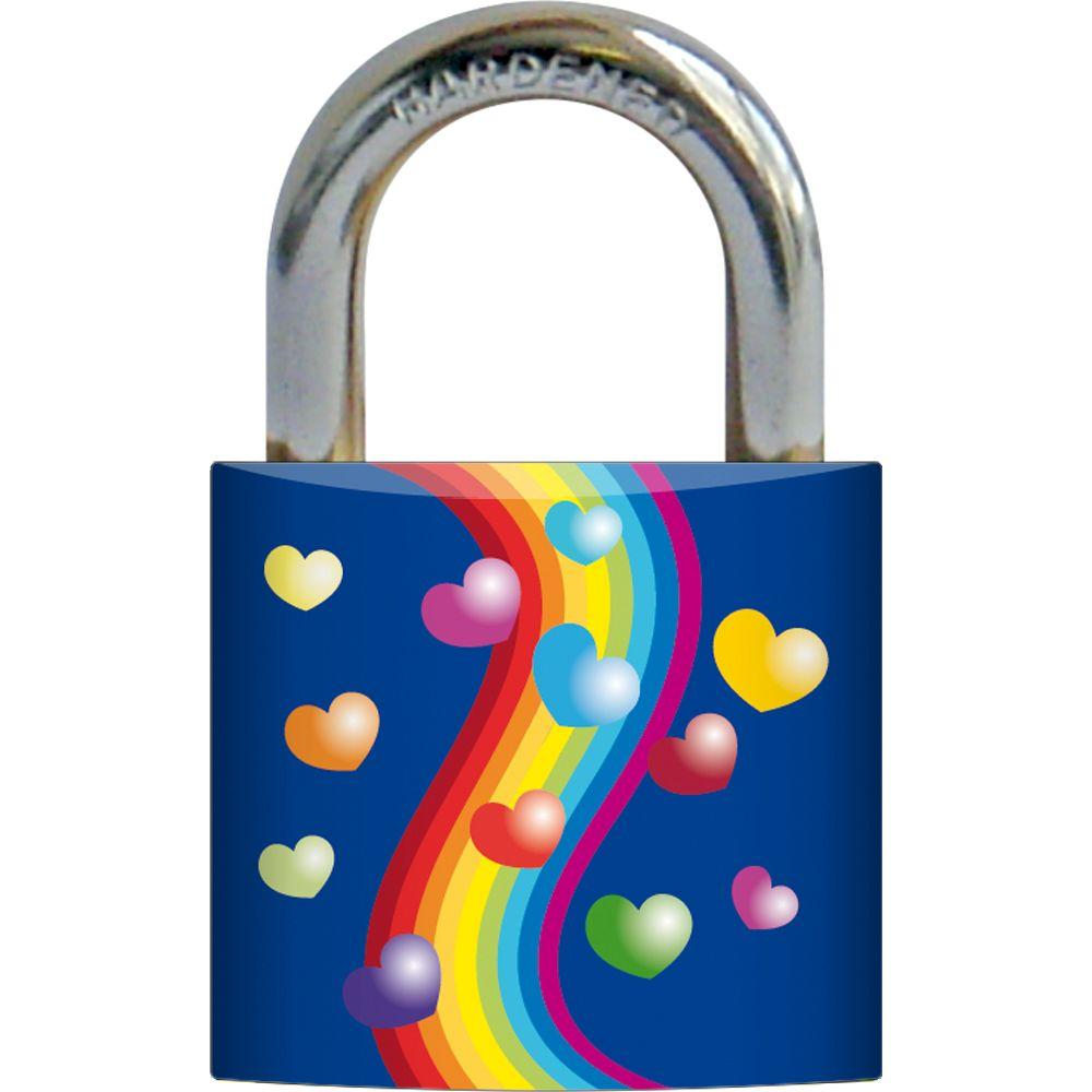 Rish 3/4 in. Metal Body Strips Design Painted Padlock-DISCONTINUED