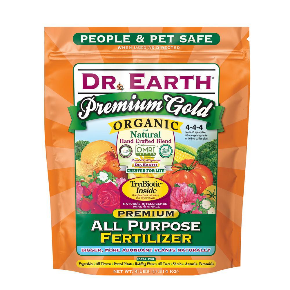 DR. EARTH 4 lb. Premium Gold All Purpose Fertilizer