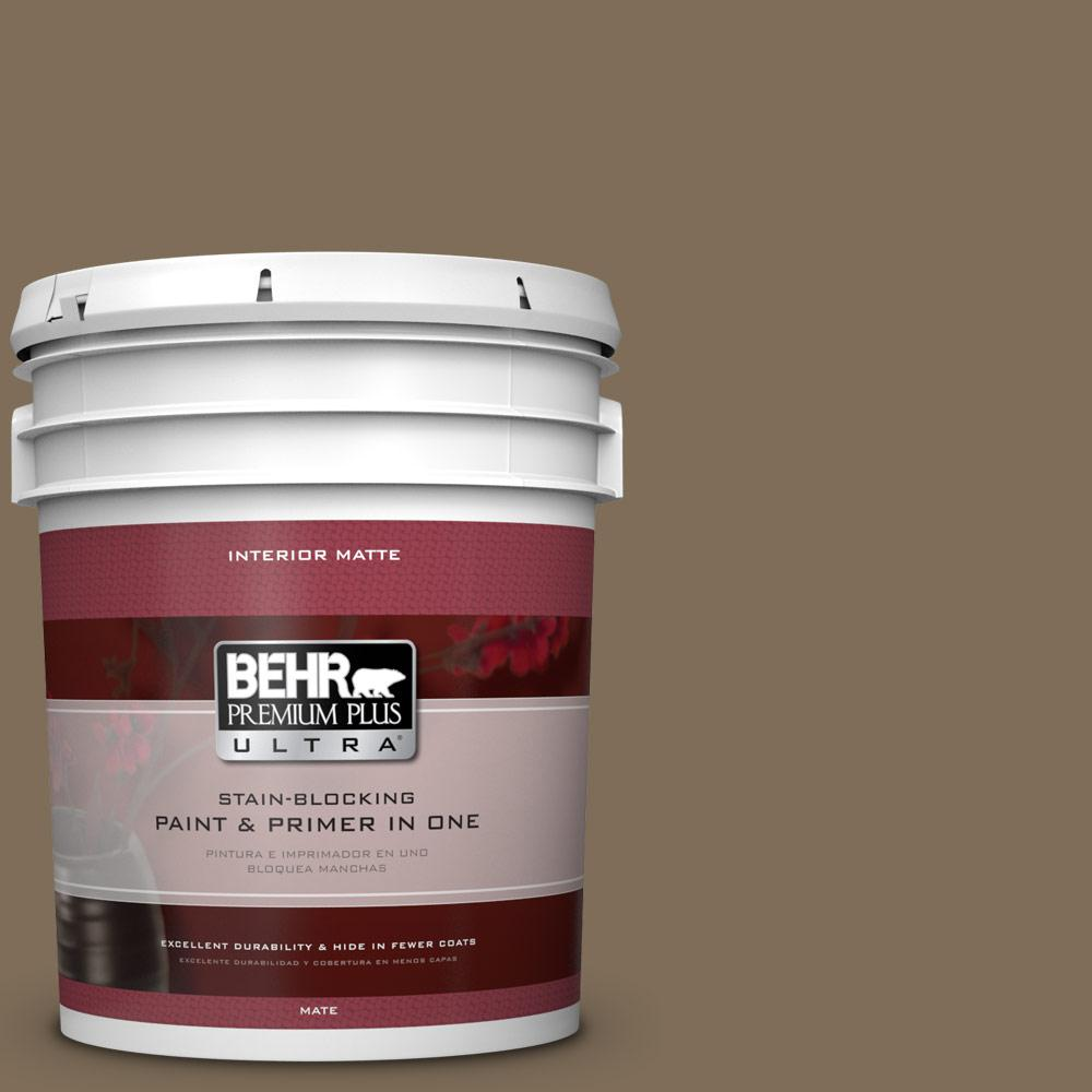 5 gal. #710D-6 Butternut Wood Flat/Matte Interior Paint